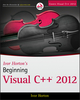 Ivor Horton's Beginning Visual C++ 2012 (1118368088) cover image
