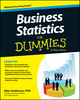 Business Statistics For Dummies (1118784588) cover image
