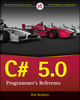 C# 5.0 Programmer's Reference (1118847288) cover image