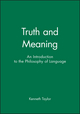 Truth and Meaning: An Introduction to the Philosophy of Language (1577180488) cover image