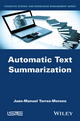 Automatic Text Summarization (1848216688) cover image
