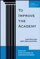 To Improve the Academy: Resources for Faculty, Instructional, and Organizational Development , Volume 27 (0470373989) cover image