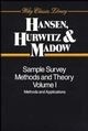 Sample Survey Methods and Theory, 2 Volume Set (0471006289) cover image