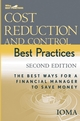 Cost Reduction and Control Best Practices: The Best Ways for a Financial Manager to Save Money, 2nd Edition (0471739189) cover image