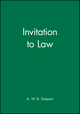 Invitation to Law (0631145389) cover image
