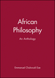 African Philosophy: An Anthology (0631203389) cover image