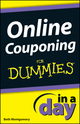 Online Couponing In a Day For Dummies (1118383389) cover image