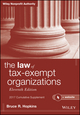 The Law of Tax-Exempt Organizations + Website, 2017 Cumulative Supplement, 11th Edition (1119345189) cover image