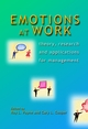 Emotions at Work: Theory, Research and Applications for Management (047084938X) cover image