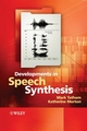 Developments in Speech Synthesis (047085538X) cover image