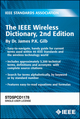 The IEEE Wireless Dictionary, Second Edition (073816108X) cover image