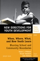 When, Where, What, and How Youth Learn: Blurring School and Community Boundaries: New Directions for Youth Development, Number 97 (078796848X) cover image