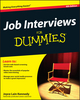 Job Interviews For Dummies, 4th Edition (111823748X) cover image