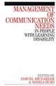 Management of Communication Needs in People with Learning Disability (186156208X) cover image