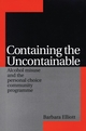 Containing the Uncontainable: Alcohol Misuse and the Personal Choice Community Programme (186156368X) cover image