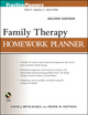 Family Therapy Homework Planner, Second Edition (0470504390) cover image