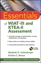 Essentials of WIAT-III and KTEA-II Assessment (0470551690) cover image