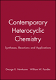 Contemporary Heterocyclic Chemistry: Syntheses, Reactions and Applications (0471062790) cover image