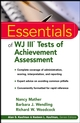 Essentials of WJ III Tests of Achievement Assessment (0471330590) cover image