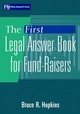 The First Legal Answer Book for Fund-Raisers (0471356190) cover image