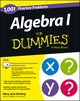 Algebra I: 1,001 Practice Problems For Dummies (+ Free Online Practice) (1118446690) cover image
