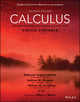 Calculus: Single Variable, 7e Student Solutions Manual (1119378990) cover image