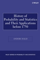 A History of Probability and Statistics and Their Applications before 1750 (0471471291) cover image