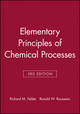 Elementary Principles of Chemical Processes, Student Workbook, 3rd Edition (0471697591) cover image