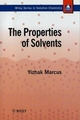 The Properties of Solvents (0471983691) cover image