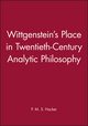 Wittgenstein's Place in Twentieth-Century Analytic Philosophy (0631200991) cover image