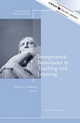 Interpersonal Boundaries in Teaching and Learning: New Directions for Teaching and Learning, Number 131 (1118441591) cover image