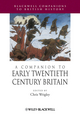 A Companion to Early Twentieth-Century Britain (1405189991) cover image