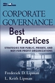 Corporate Governance Best Practices: Strategies for Public, Private, and Not-for-Profit Organizations (0470043792) cover image