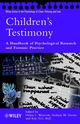 Children's Testimony: A Handbook of Psychological Research and Forensic Practice (0470851392) cover image