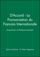 D'Accord - La Prononciation du Francais Internationale: Acquisition et Perfectionnement (0471097292) cover image