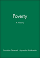Poverty: A History (0631205292) cover image