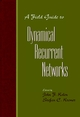 A Field Guide to Dynamical Recurrent Networks (0780353692) cover image