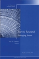 Survey Research Emerging Issues: New Directions for Institutional Research, Number 127 (0787983292) cover image
