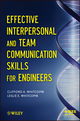 Effective Interpersonal and Team Communication Skills for Engineers (1118317092) cover image