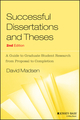Successful Dissertations and Theses: A Guide to Graduate Student Research from Proposal to Completion, 2nd Edition (1555423892) cover image