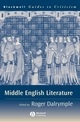 Middle English Literature: A Guide to Criticism (0631232893) cover image