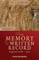 From Memory to Written Record: England 1066 - 1307, Third Edition (EHEP002793) cover image