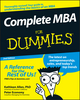 Complete MBA For Dummies, 2nd Edition (0470194294) cover image
