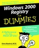 Windows 2000 Registry For Dummies (0764504894) cover image