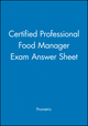 Certified Professional Food Manager Exam Answer Sheet (1118380894) cover image