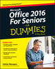 Office 2016 For Seniors For Dummies (1119077494) cover image