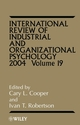 International Review of Industrial and Organizational Psychology, 2004 Volume 19 (0470854995) cover image