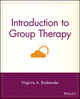 Introduction to Group Therapy (0471378895) cover image