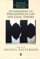 A Companion to Philosophy of Law and Legal Theory (0631213295) cover image