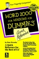 Word 2000 for Windows For Dummies : Quick Reference (0764504495) cover image